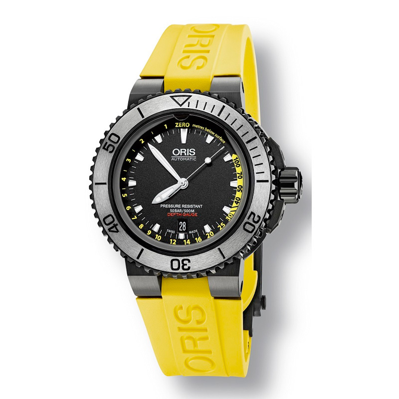 ORIS Aquis Depth Gauge Date 733-7675-4754-SET-RS