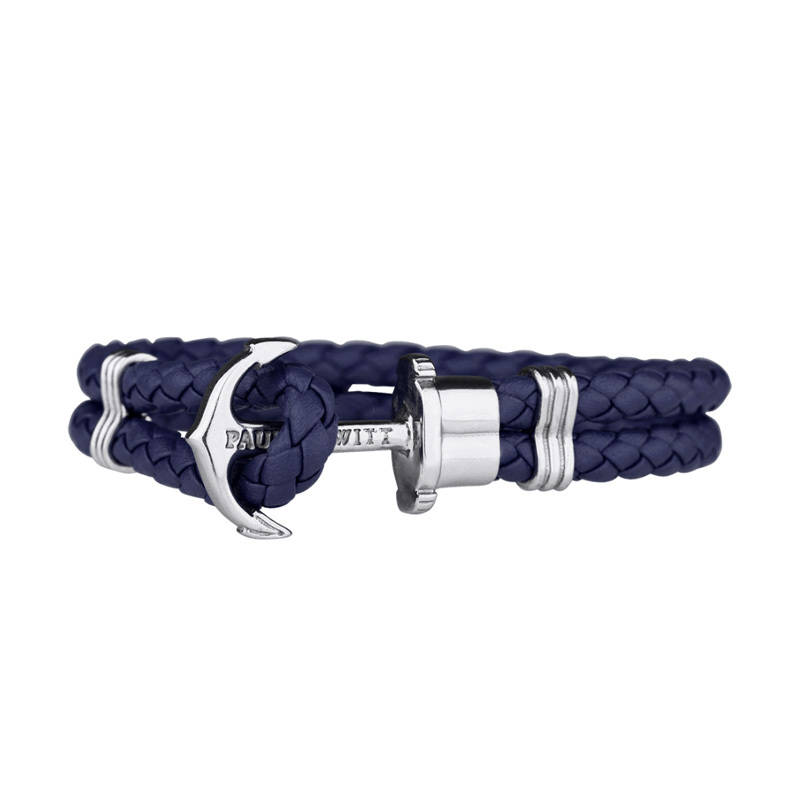 Paul Hewitt Anchor Bracelet Phrep Stainless Steel Navy Blue - XXXL PH-PH-L-S-N-XXXL